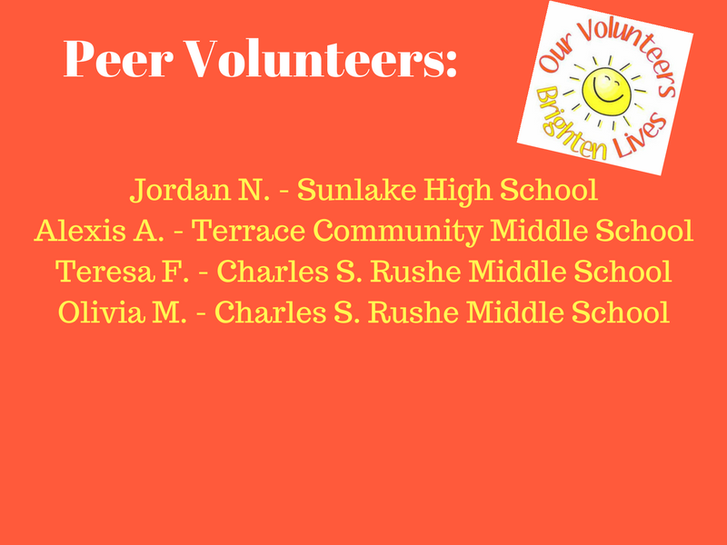 April Volunteers of the Month