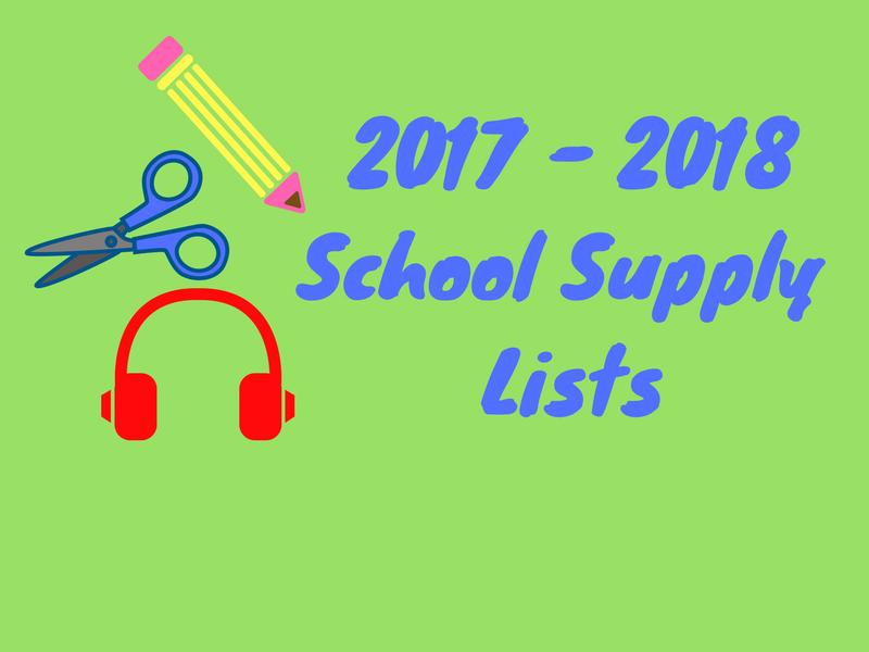School Supply Lists 2017-2018