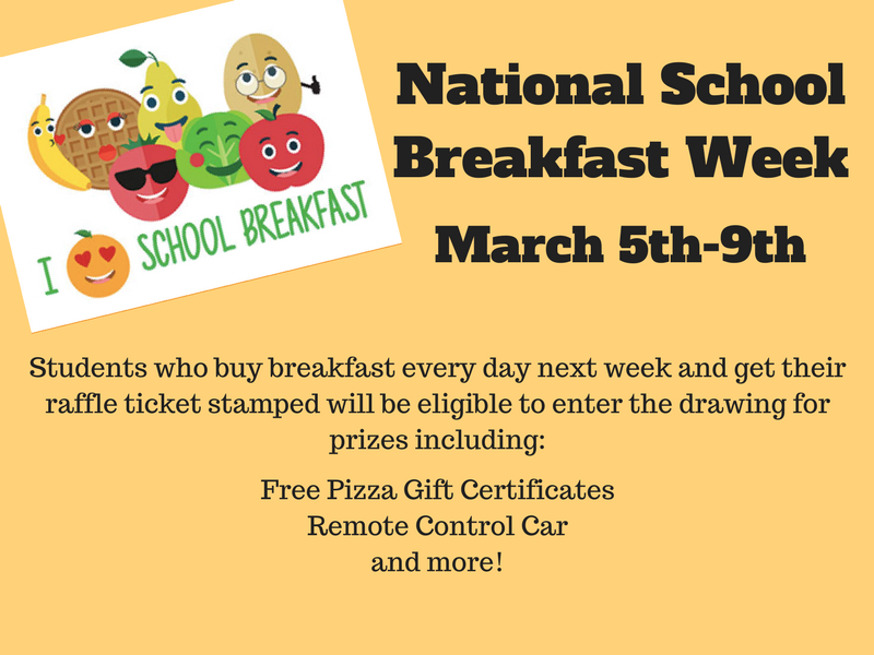 National School Breakfast Week 2018